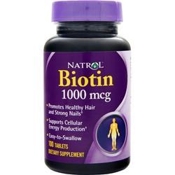 NATROL Biotin (1000mcg) 100 tabs