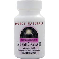 SOURCE NATURALS Methyl Cobalamin (5mg) Cherry 60 tabs