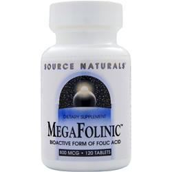 SOURCE NATURALS MegaFolinic (800mcg) 120 tabs