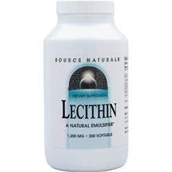 SOURCE NATURALS Lecithin (1200mg) 200 sgels