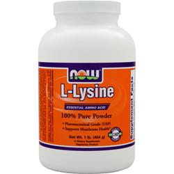 NOW L-Lysine 100% Pure Powder 1 lbs