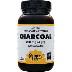 COUNTRY LIFE Charcoal (260mg) 100 caps
