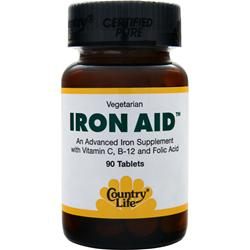 COUNTRY LIFE Iron Aid 90 tabs