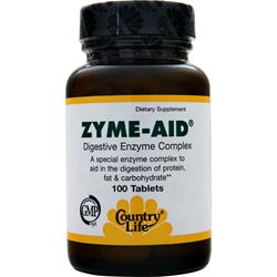 COUNTRY LIFE Zyme-Aid 100 tabs