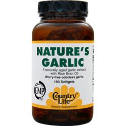 COUNTRY LIFE Nature's Garlic Best by 1/14 180 sgels