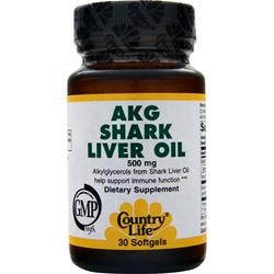 COUNTRY LIFE AKG Shark Liver Oil 30 sgels