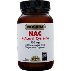 BIOCHEM NAC N-Acetyl Cysteine (750mg) 60 vcaps