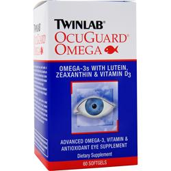 TwinLab OcuGuard Omega with Lutein, Zeaxanthin, & Vitamin D3 60 sgels