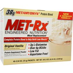 MET-RX Meal Replacement Drink Mix Original Vanilla 40 pckt