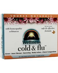 SOURCE NATURALS Wellness Cold and Flu 48 tabs