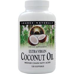 SOURCE NATURALS Extra Virgin Coconut Oil 120 sgels
