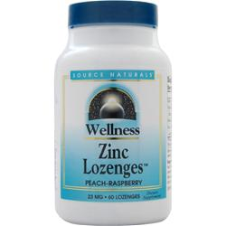 SOURCE NATURALS Wellness Zinc Lozenges (23mg) Peach Raspberry 60 lzngs