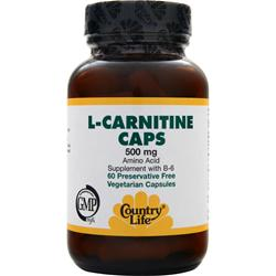 Country Life L-Carnitine (500mg) 60 vcaps