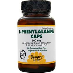 COUNTRY LIFE L-Phenylalanine (500mg) 60 vcaps