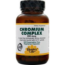 COUNTRY LIFE Chromium Complex (200mcg) 100 vcaps