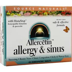 SOURCE NATURALS Allercetin Allergy & Sinus 48 tabs