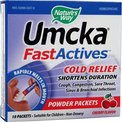 NATURE'S WAY Umcka FastActives Cold Relief Cherry 10 pckts
