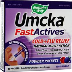 NATURE'S WAY Umcka FastActives Cold plus Flu Relief Berry 10 pckts