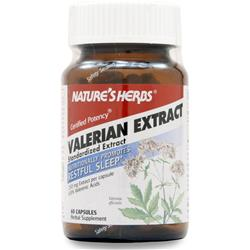 NATURE'S HERBS Valerian Extract - Standardized 60 caps