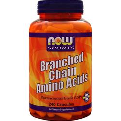 NOW Branched Chain Amino Acids 240 caps