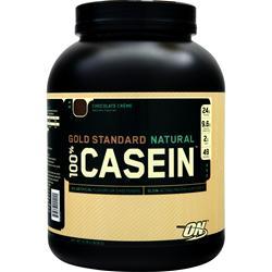Optimum Nutrition 100% Gold Standard Casein Protein (Natural) Chocolate Creme 4 lbs