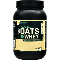 Optimum Nutrition Natural 100% Oats & Whey Vanilla Bean 3 lbs