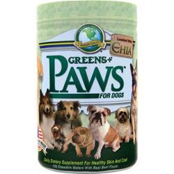 Greens Plus Paws for Dogs Healthy Skin and Coat Beef Flavor 120 wafrs