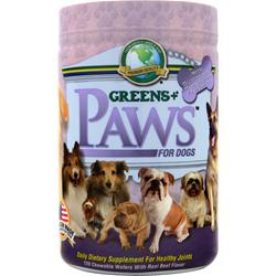 GREENS PLUS Paws for Dogs for Healthy Joints Beef Flavor 120 wafrs