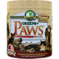 Greens Plus Paws for Cats for Healthy Skin and Coat Beef Flavor 6.2 oz