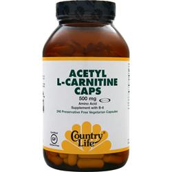 COUNTRY LIFE Acetyl L-Carnitine Caps (500mg) 240 vcaps