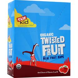CLIF BAR Organic Twisted Fruit for Kids Strawberry 18 pckts