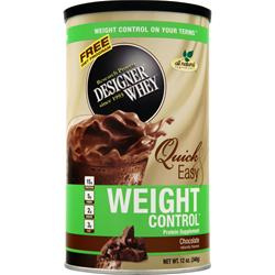 DESIGNER WHEY Designer Whey Weight Control Chocolate 12 oz