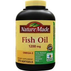 NATURE MADE Maximum Strength Omega-3 Fish Oil 375 sgels