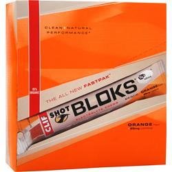 CLIF BAR Clif Shot Bloks Orange (w/ caffeine) 18 pckts