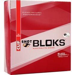 CLIF BAR Clif Shot Bloks Black Cherry (w/caffeine) 18 pckts