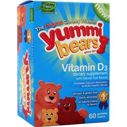 YUMMI BEARS Vitamin D3 (300IU) 60 bears