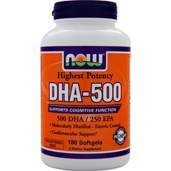 NOW DHA-500 180 sgels
