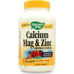 Nature's Way Calcium, Magnesium & Zinc 250 caps