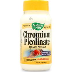 NATURE'S WAY Chromium Picolinate (200mcg) 100 caps