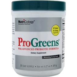 Nutricology ProGreens Powder 265 grams