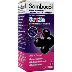 HEALTHCARE BRANDS Sambucol Liquid For Kids Natural Berry 4 fl.oz