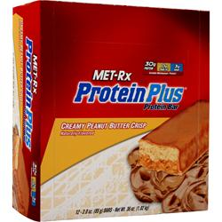 MET-RX Protein Plus Bar Peanut Butter Crisp 12 bars