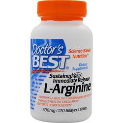 DOCTOR'S BEST Sustained Plus Immediate Release L-Arginine 120 tabs