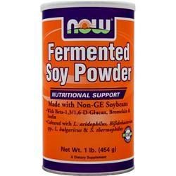 Now Fermented Soy Protein French Vanilla 1 lbs