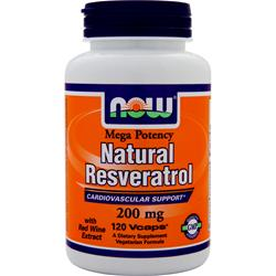 NOW Natural Resveratrol - Mega Potency 120 vcaps