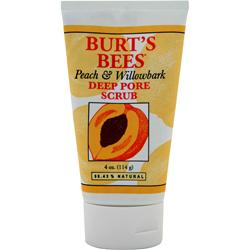 BURT'S BEES Deep Pore Scrub Peach & Willowbark 4 oz