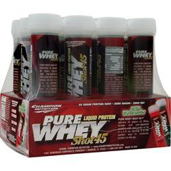 Champion Nutrition Pure Whey Shot 45 Wild Watermelon 12 unit
