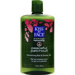 KISS MY FACE Bath and Shower Gel Peaceful Patchouli 16 fl.oz