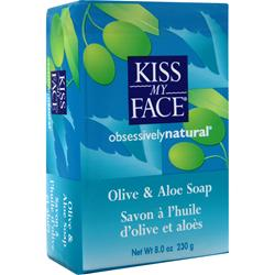 KISS MY FACE Olive Oil Bar Soap Olive and Aloe 8 oz
