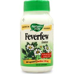 NATURE'S WAY Feverfew Leaf 100 caps